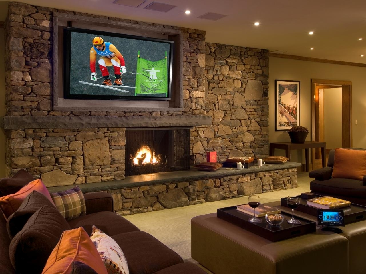 Basement Home Theaters And Media Rooms: Pictures, Tips & Ideas | Hgtv Intended For Latest Wall Accents For Media Room (View 6 of 15)