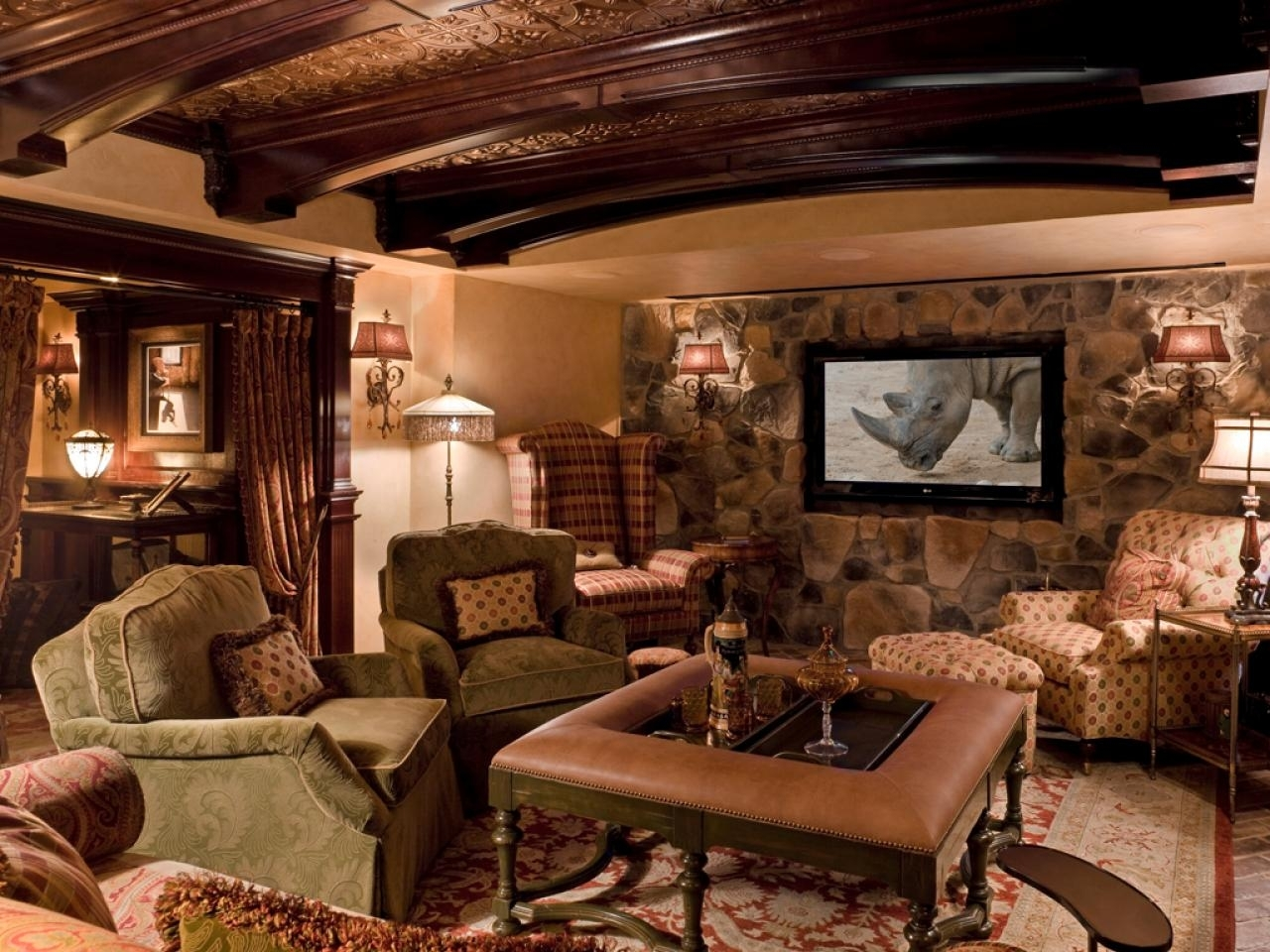 Basement Home Theaters And Media Rooms: Pictures, Tips & Ideas | Hgtv Intended For Newest Wall Accents For Media Room (View 6 of 15)