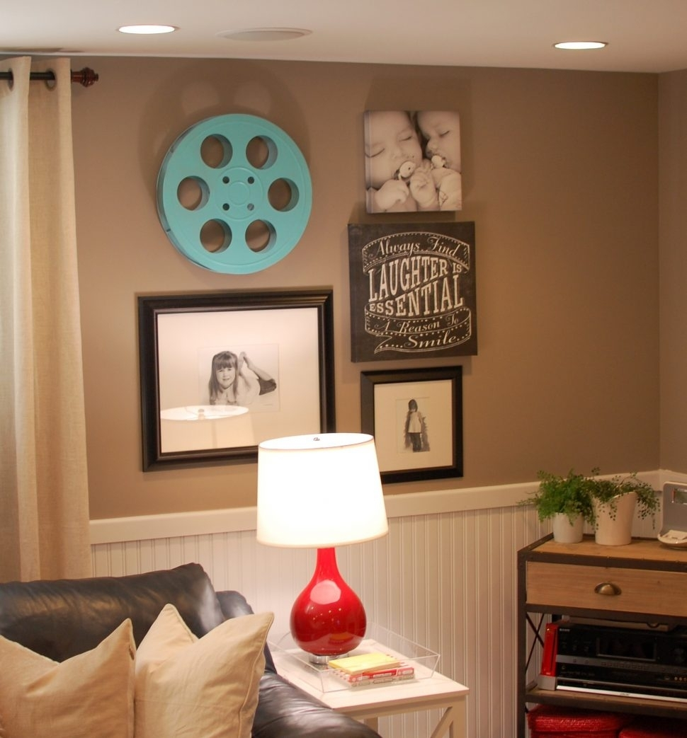 Basement Living Rooms Decorating Ideas Together With Ideas Throughout Most Recent Basement Wall Accents (View 7 of 15)