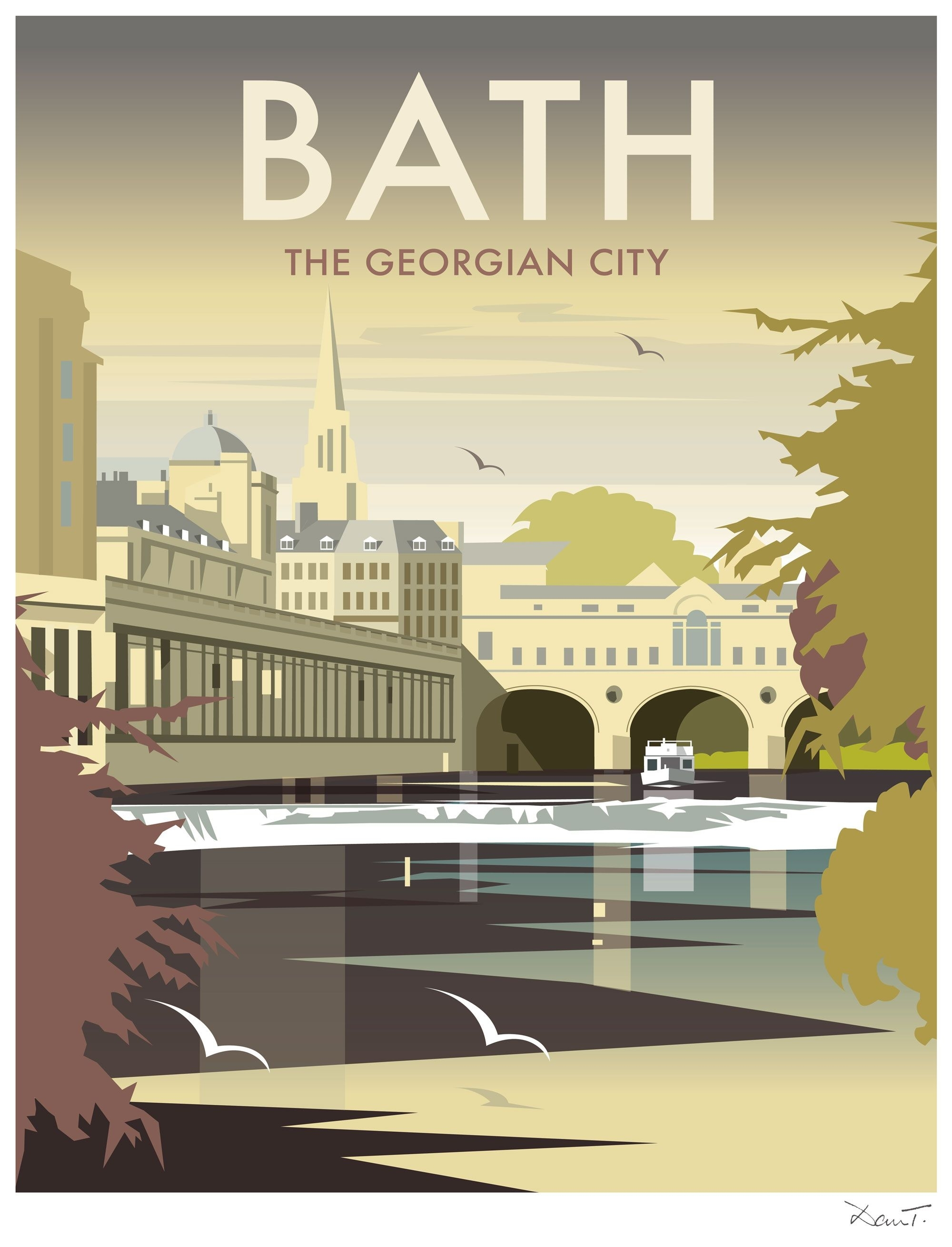 Bath (dt11) 'the Georgian City'dave Thompson Http://www Within Recent European Framed Art Prints (View 7 of 15)