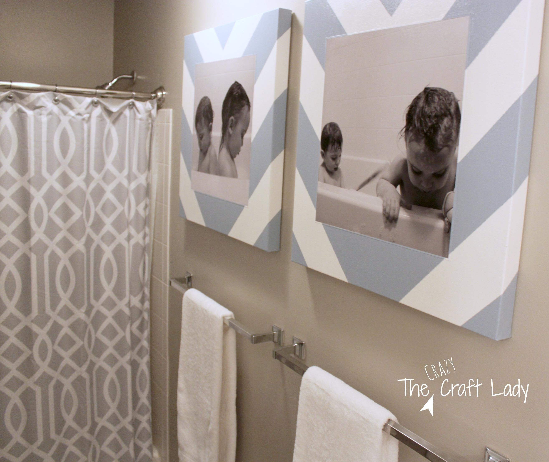 Bath Time Photos And Diy Canvas Prints – The Crazy Craft Lady Regarding Recent Bathroom Canvas Wall Art (View 7 of 15)