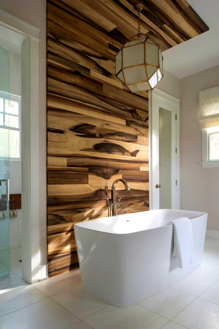 Bathroom : Enchanting Ideas About Wood Accent Walls Accents Faux In Current Wood Wall Accents (Gallery 10 of 15)