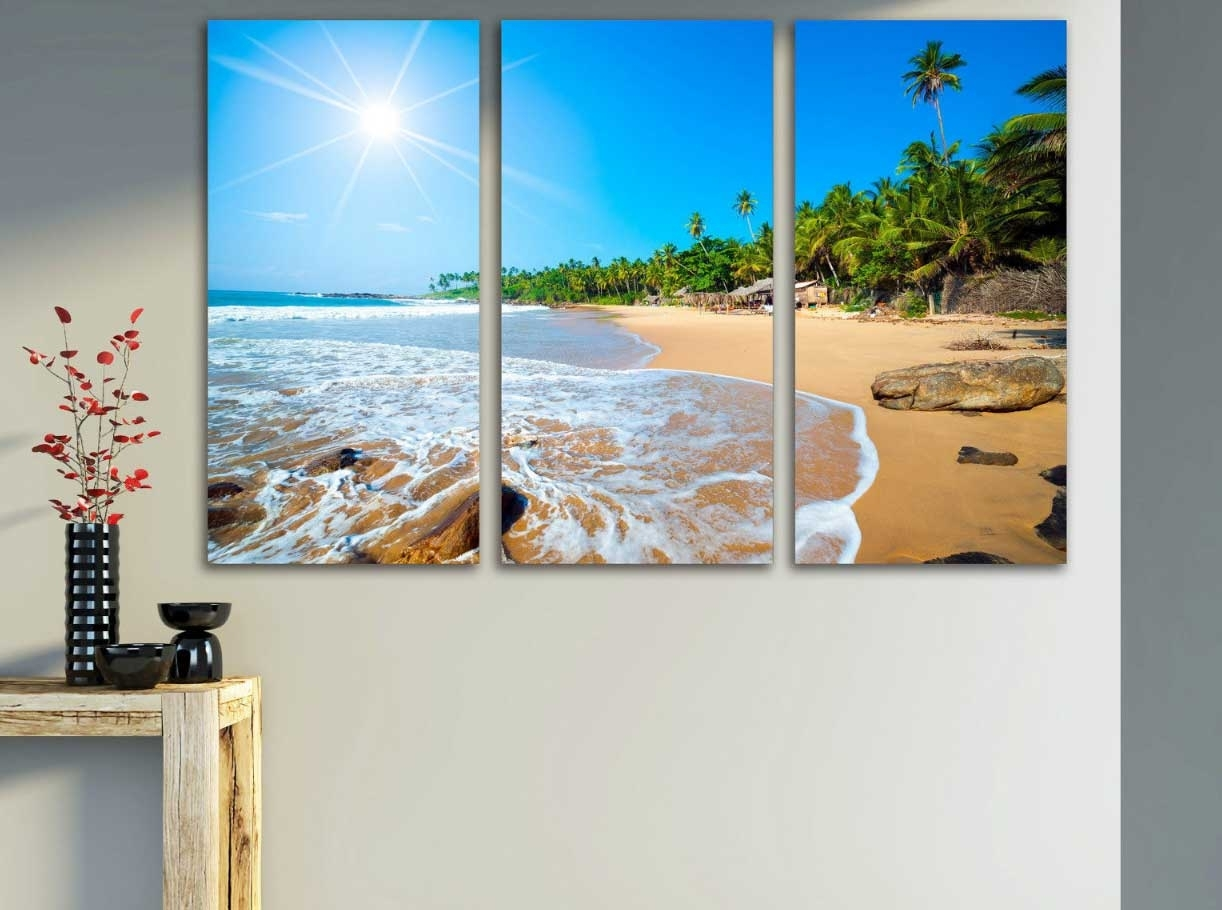 Beach Scene Wall Art Canvas Print Ideas | Home Interior & Exterior Throughout 2017 Canvas Wall Art Beach Scenes (View 2 of 15)