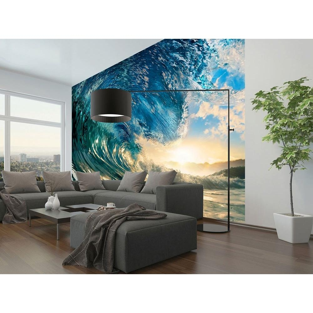 Beach – Wall Murals – Wall Decor – The Home Depot With Regard To Most Recent Murals Wall Accents (View 6 of 15)