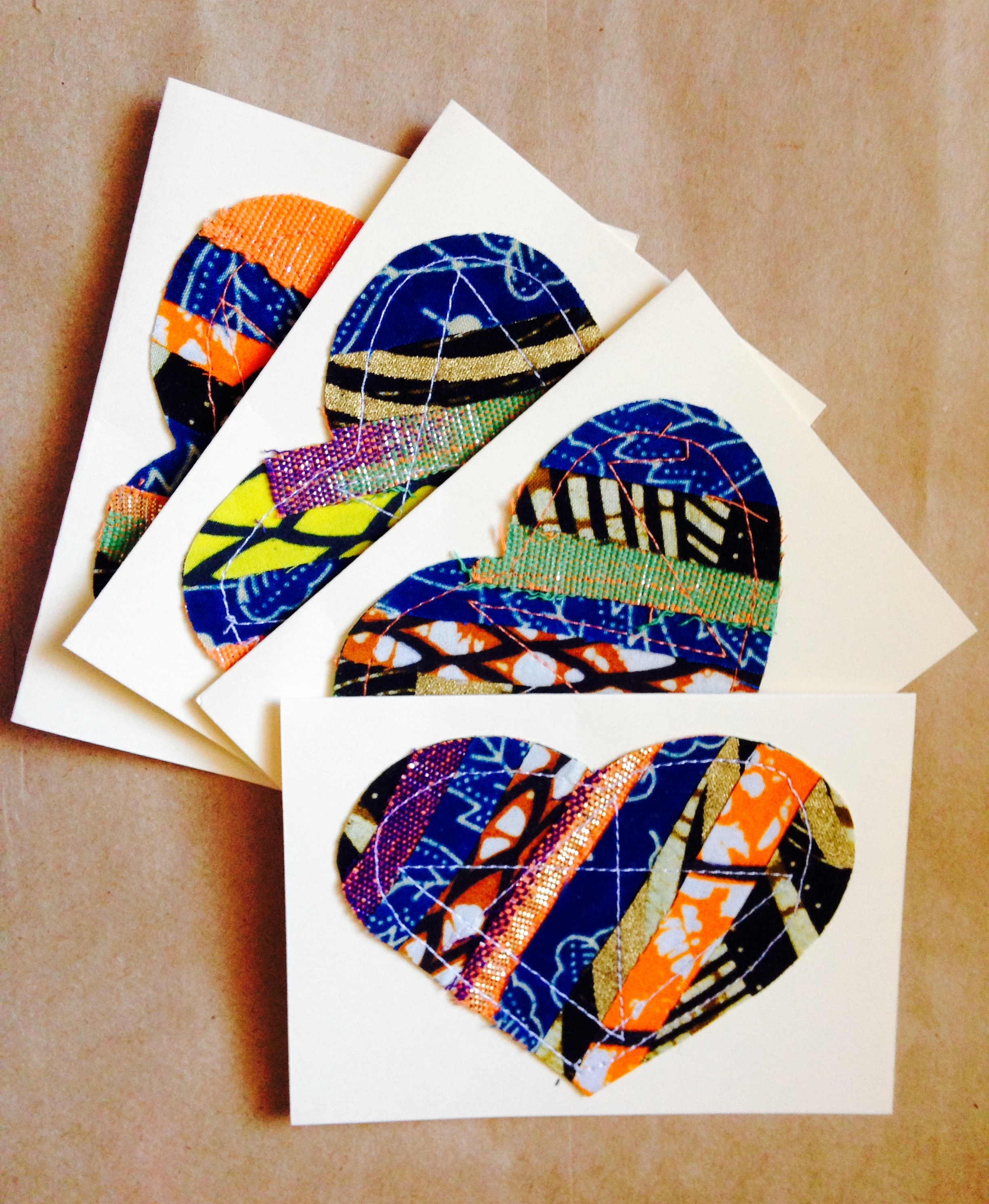 Beautiful African Wax Print (ankara) Notecards (View 12 of 15)