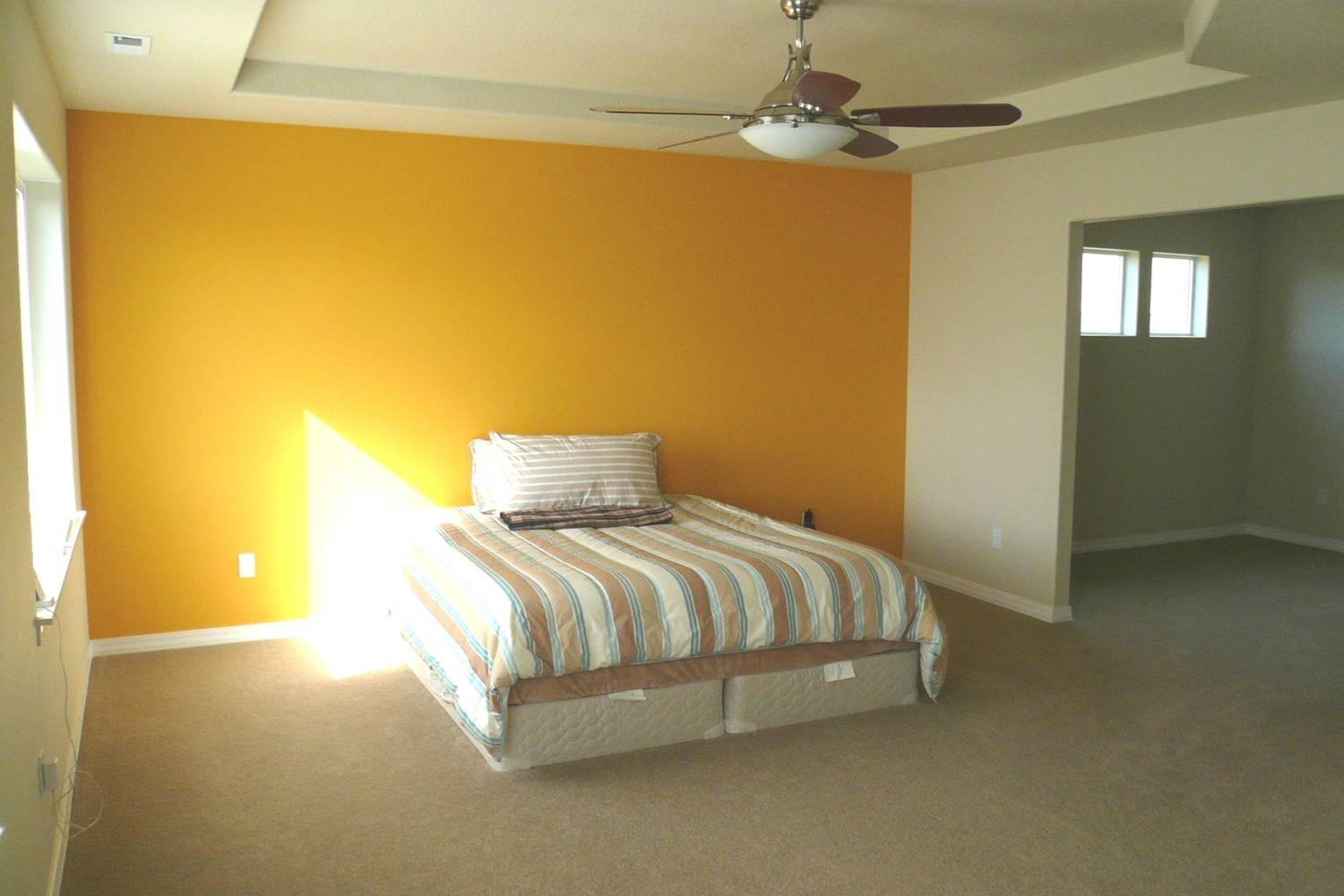 Bedroom: Artistic Picture Of Bedroom Decoration Using Yellow Best Regarding Most Current Yellow Wall Accents (View 3 of 15)