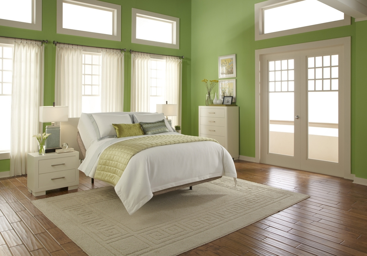 Bedroom : Beauteous Small Green Bedroom Wall Decor Ideas With Throughout Most Popular Green Wall Accents (View 4 of 15)