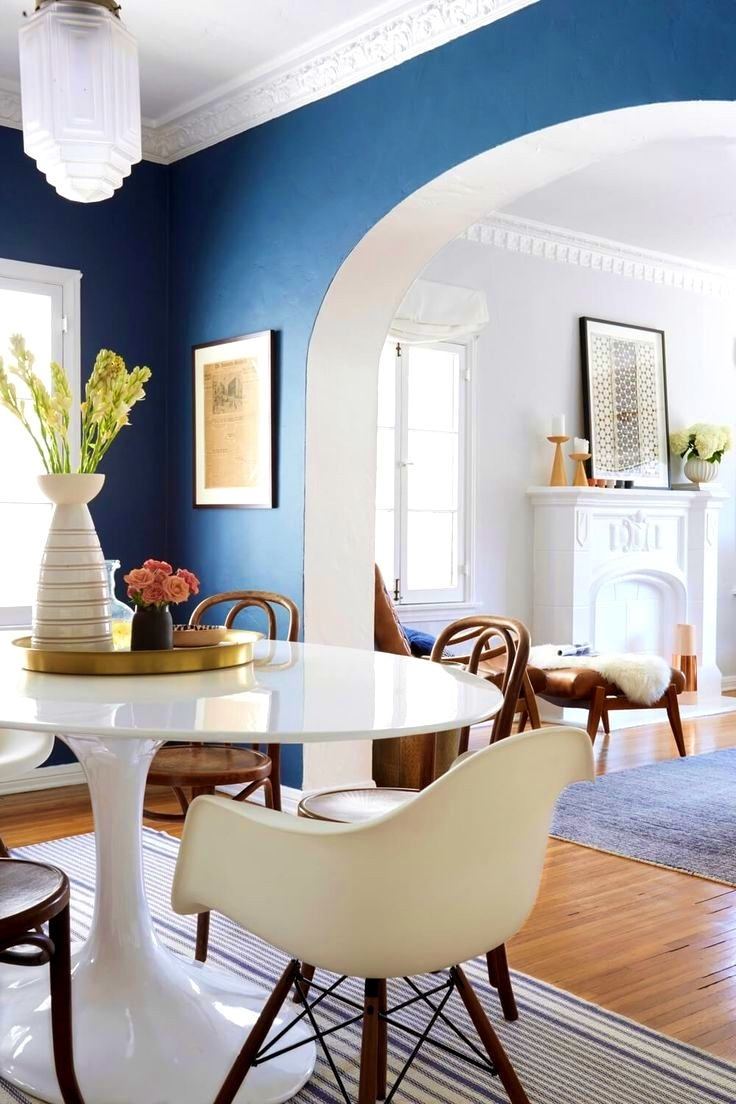 Bedroom. Blue Accent Walls: Lovely Ideas About Blue Accent Walls With 2017 Wall Accents For Living Room (Gallery 6 of 15)