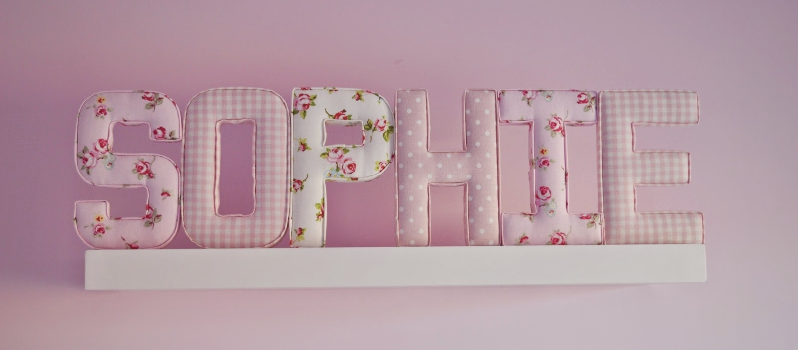 Bedroom. Cute Baby Room Name Letters Ideas As Bedroom Decorations intended for Most Recently Released Fabric Name Wall Art