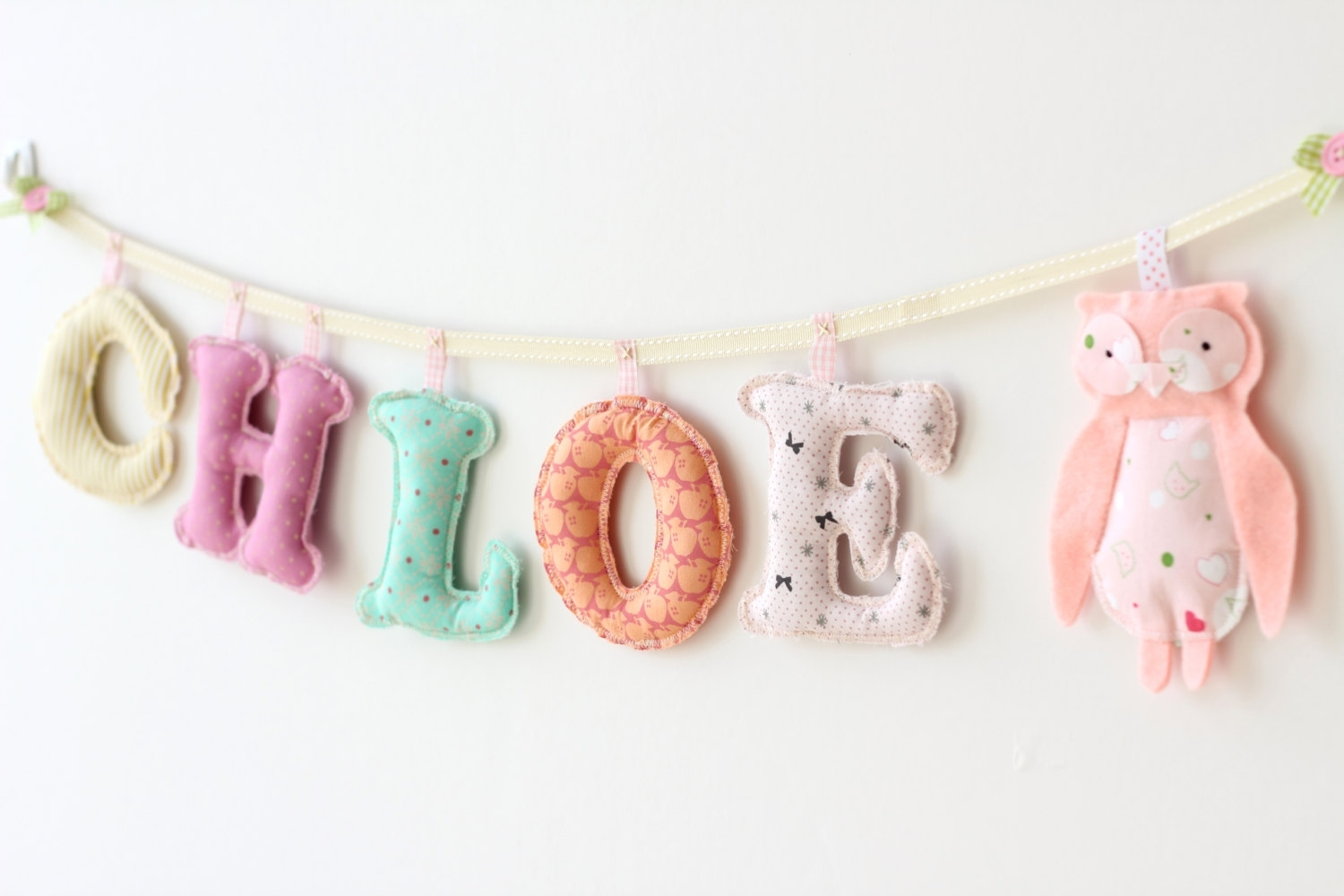 Bedroom. Cute Baby Room Name Letters Ideas As Bedroom Decorations Throughout Most Popular Nursery Decor Fabric Wall Art (Gallery 14 of 15)