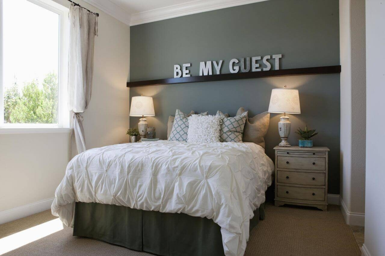Attractive Small Bedroom Wall Ideas Part - 11: Bedroom Design: Bedroom Focal Wall Ideas Accent Wall Color Intended For  Most Recently Released Wall