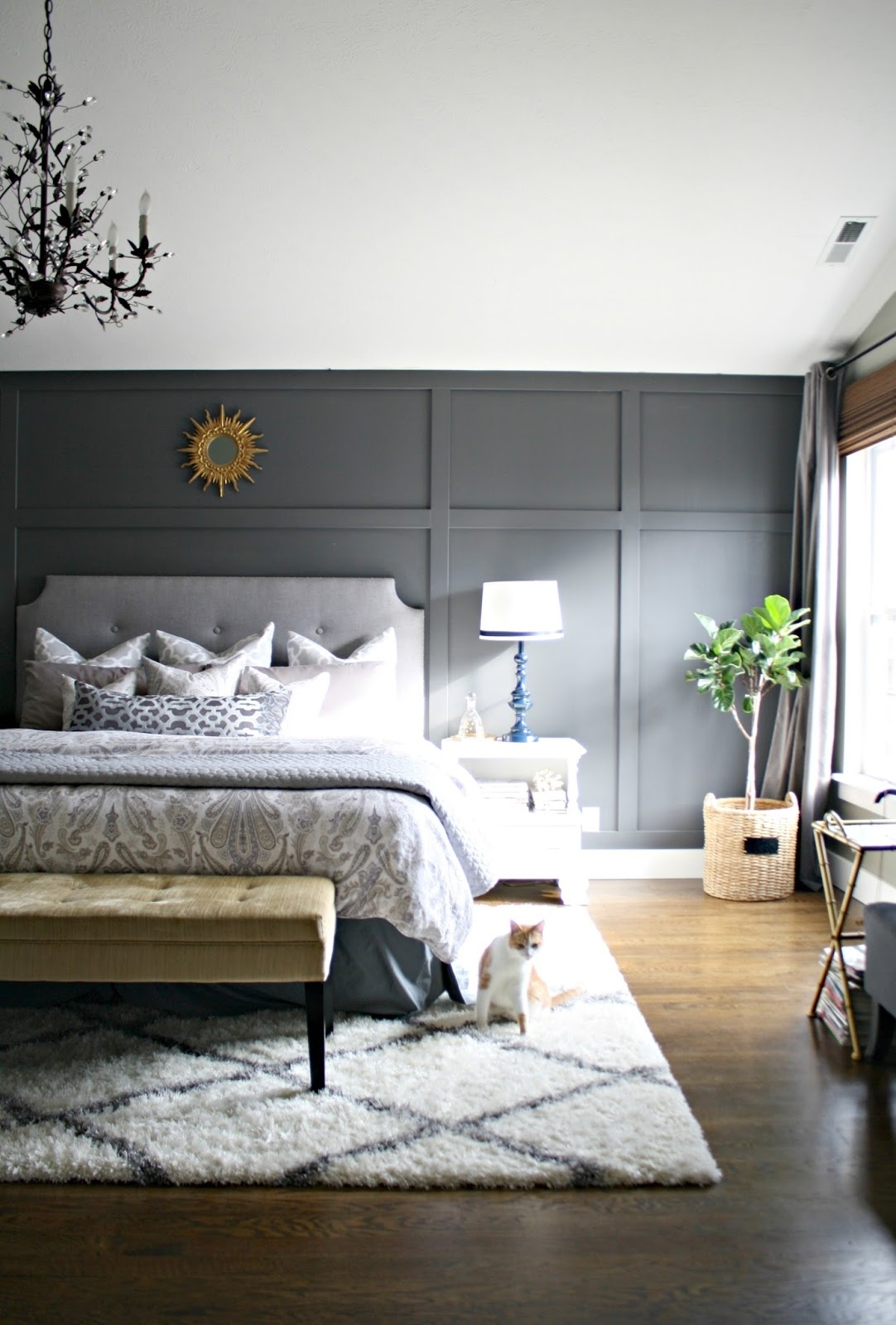Bedroom Design: Cheap Wood Accent Wall Accent Wall Color Inside Most Up To Date Gray Wall Accents (View 5 of 15)