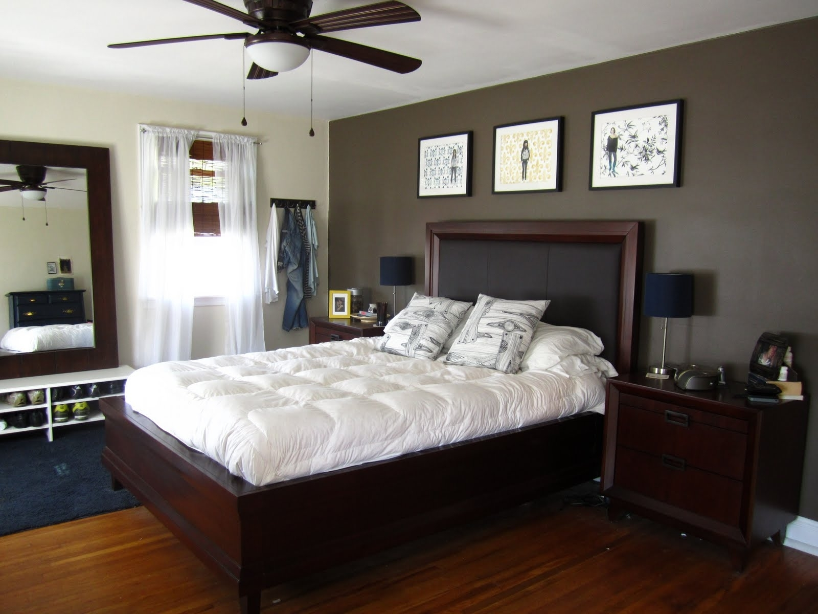 Bedroom Design: Focal Wall Black Accent Wall Accent Wall Designs With Most Recently Released Wall Accents Behind Bed (View 10 of 15)