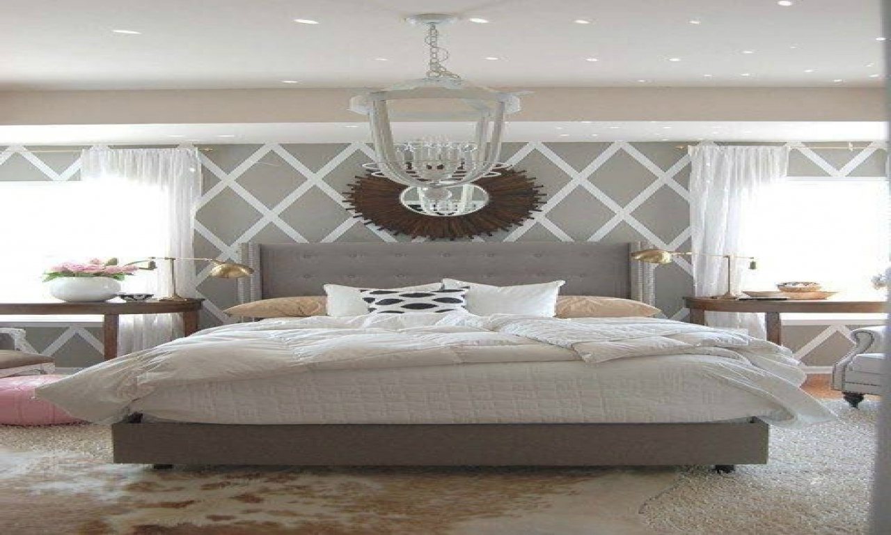 Bedroom Design: Simple Wall Decorating Ideas White Grey Bedroom With Most Recently Released Grey And White Wall Accents (View 4 of 15)