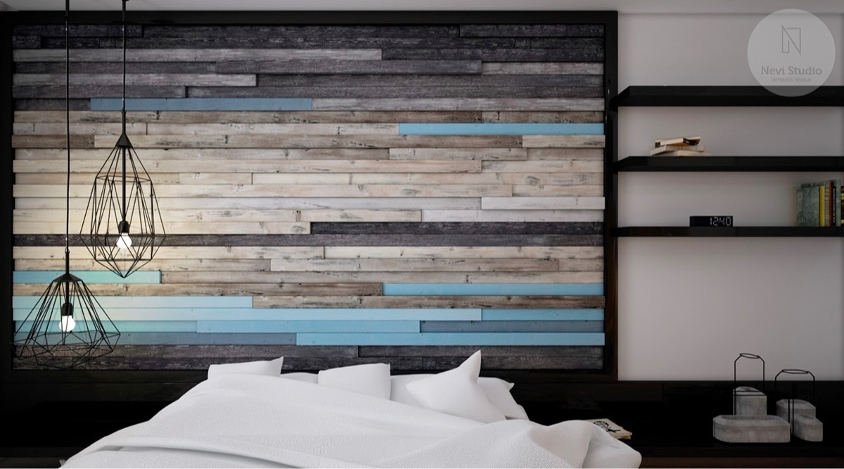 Bedroom Design: Wallpaper Accent Wall Ideas Rock Accent Wall In Most Recently Released Unique Wall Accents (View 7 of 15)