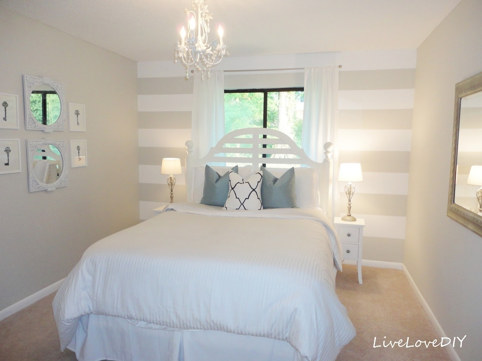Bedroom Design: White Wood Accent Wall Fireplace Accent Wall Pertaining To Newest Wallpaper Wall Accents (View 7 of 15)