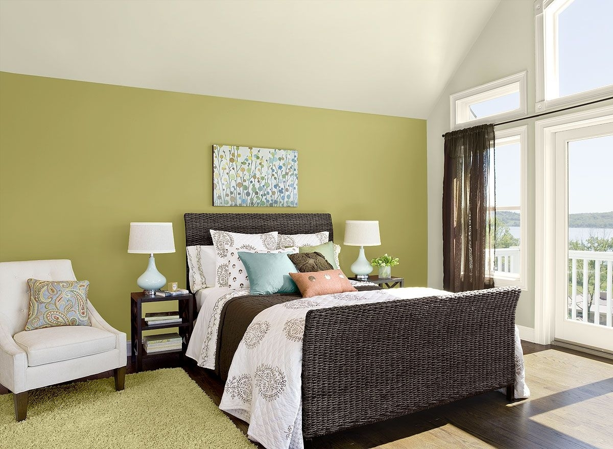 Bedroom Ideas & Inspiration   Green Rooms, Ceilings And Green Intended For Recent Green Room Wall Accents (View 1 of 15)