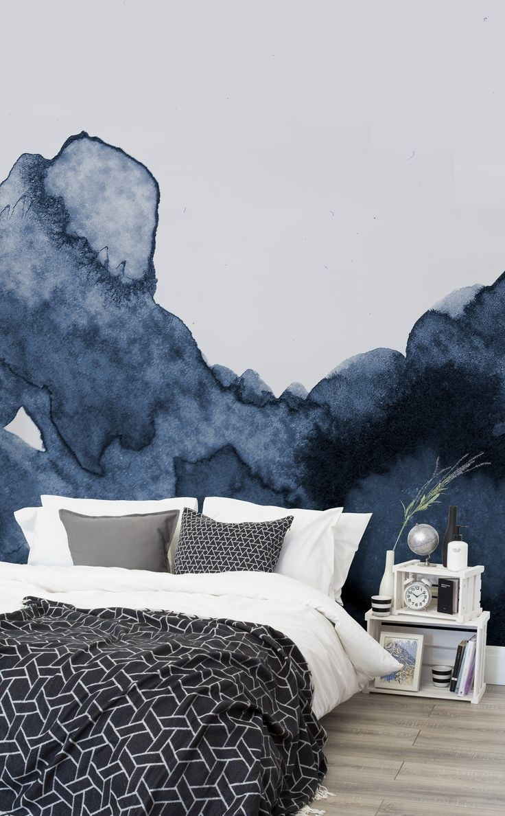 Bedroom Ideas : Wonderful Cool Teal Accent Walls Accent Wall In Most Popular Wallpaper Wall Accents (View 8 of 15)