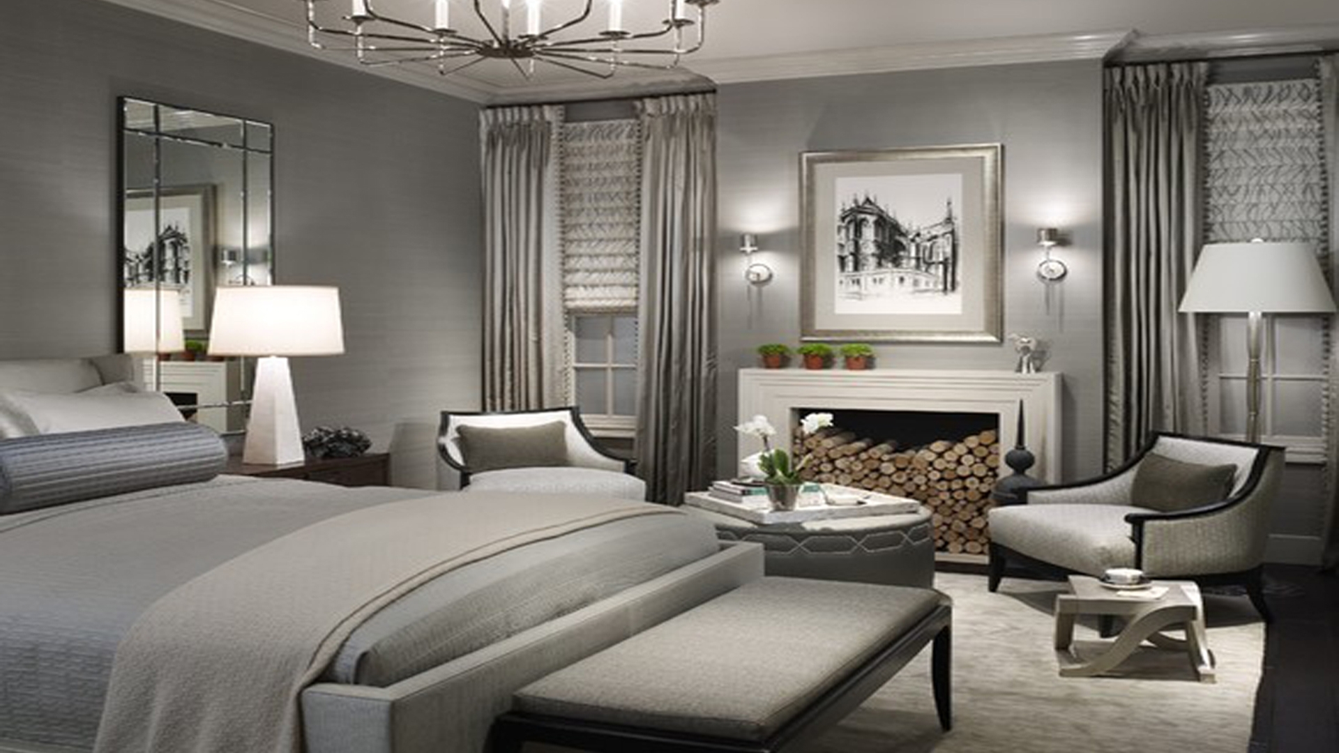Bedroom : Inviting Grey Bedroom Walls Picture Concept Light Home With Most Up To Date Wall Accents For Grey Room (View 13 of 15)