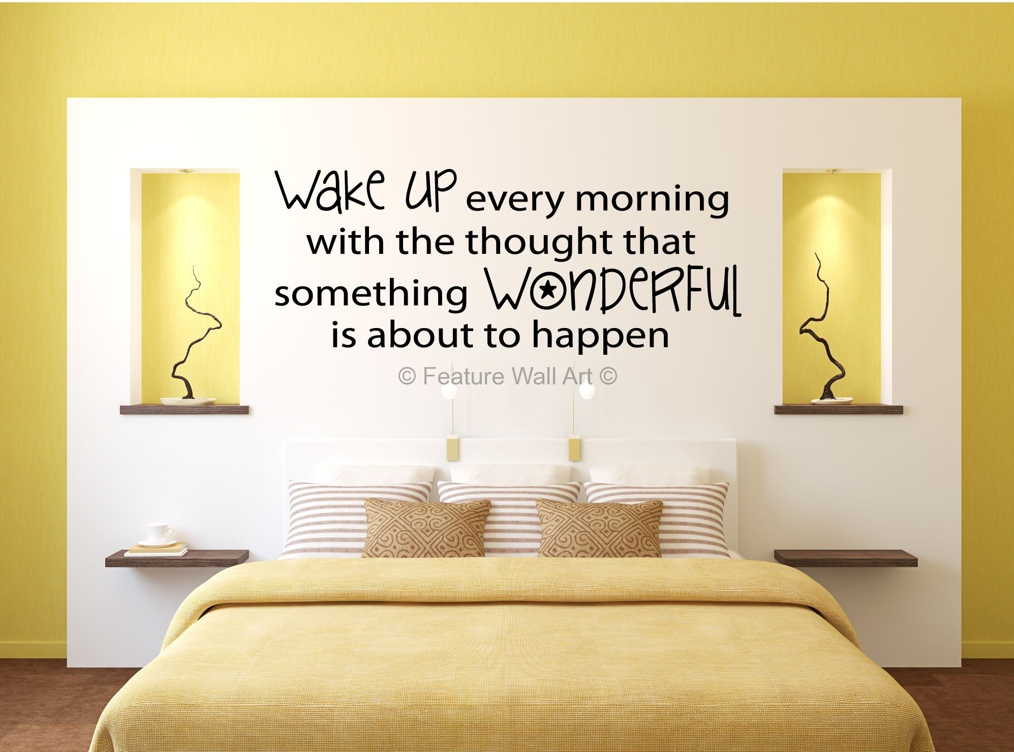 Bedroom : Wall Art Design Ideas Yellow Bedroom Decorations Also With Regard To Most Current Yellow Wall Accents (View 7 of 15)