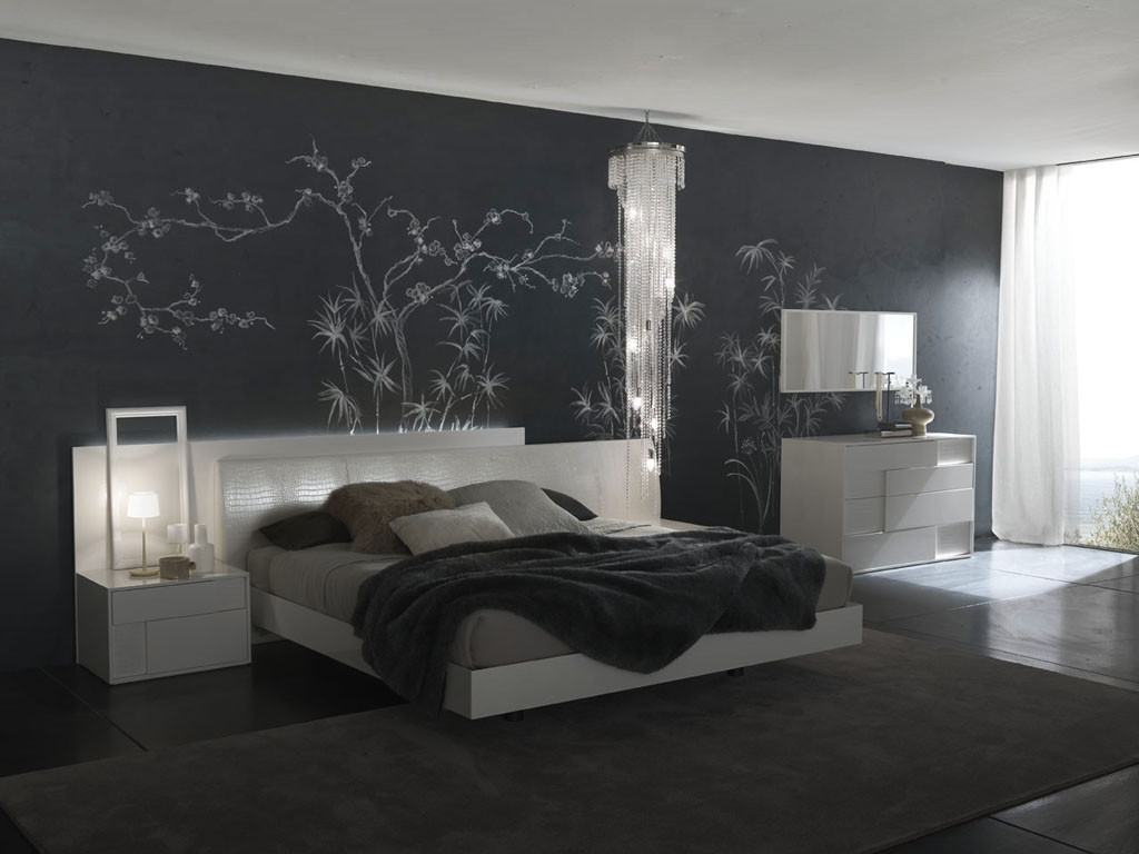 Bedroom Wall Decorating Ideas Entrancing Bedroom Ideas For Walls Pertaining To Most Current Wall Accents For Grey Room (Gallery 11 of 15)