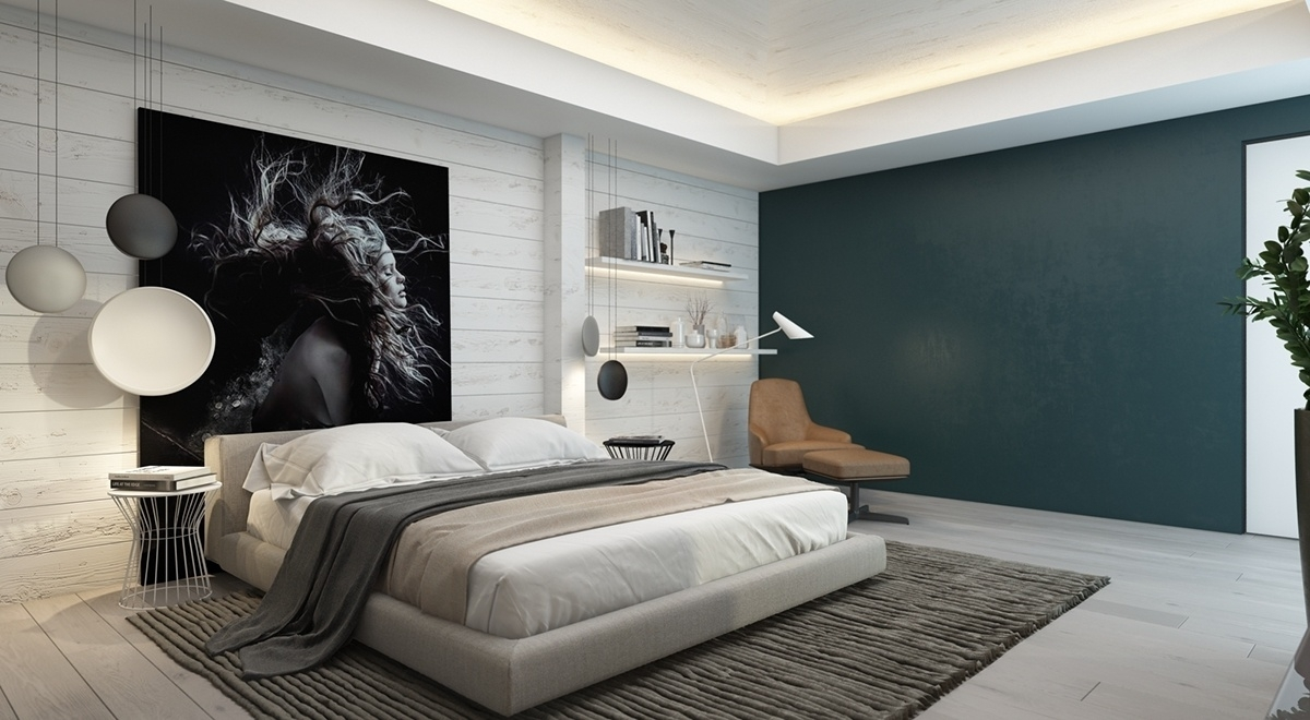 Bedrooms With Brilliant Accent Walls In Current Wall Accents For Bedroom (View 6 of 15)