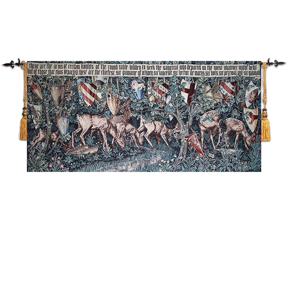 Belgium Arts Wall Tapestry Wall Hanging Cotton Moroccan Decor In Latest Moroccan Fabric Wall Art (View 6 of 15)