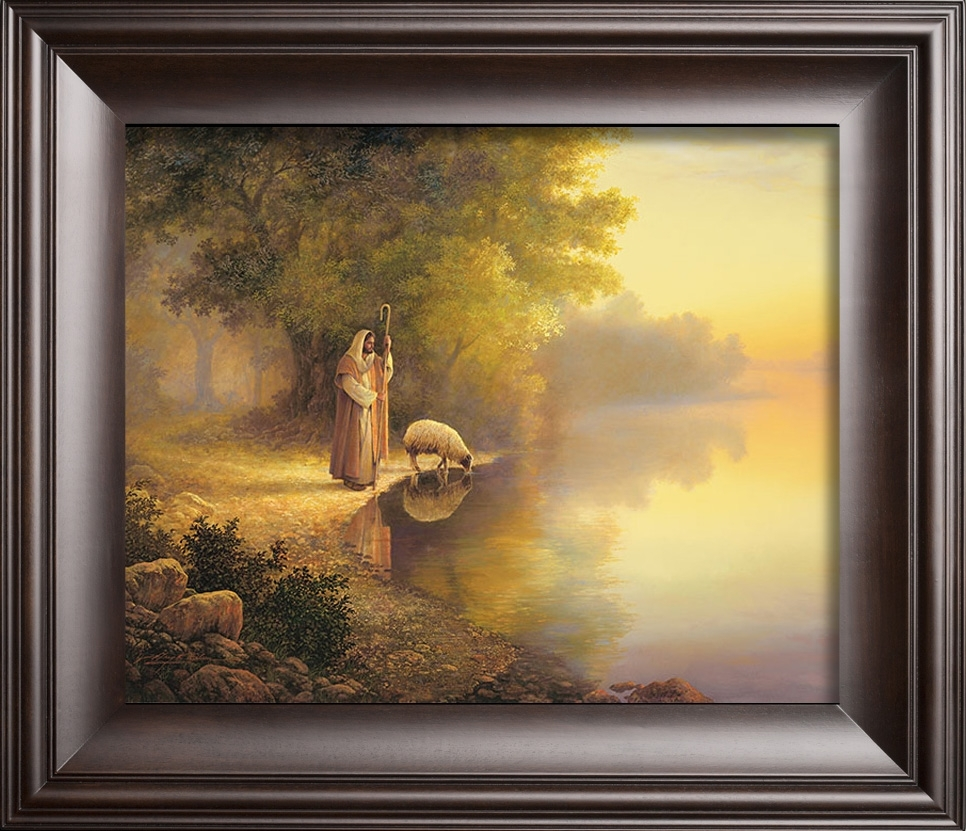 Beside Still Waters – Christian Artgreg Olsen Regarding Current Christian Framed Art Prints (View 2 of 15)