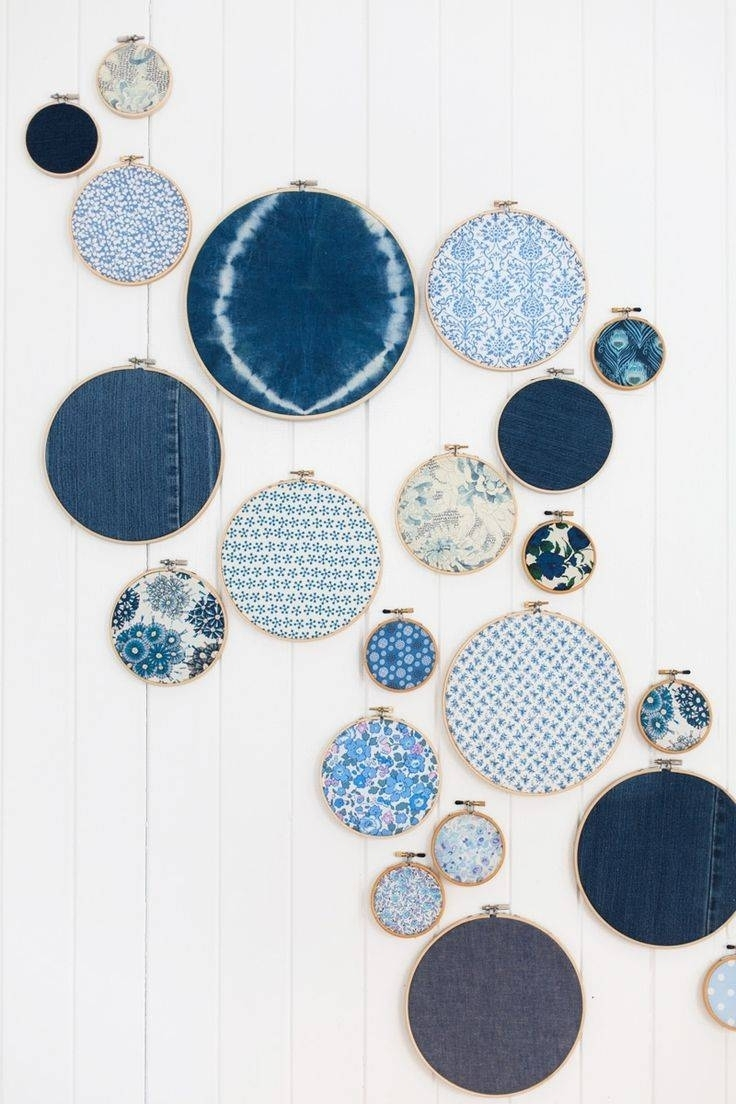 Best 20+ Of Stretched Fabric Wall Art With Most Recent Fabric Circle Wall Art (View 14 of 15)