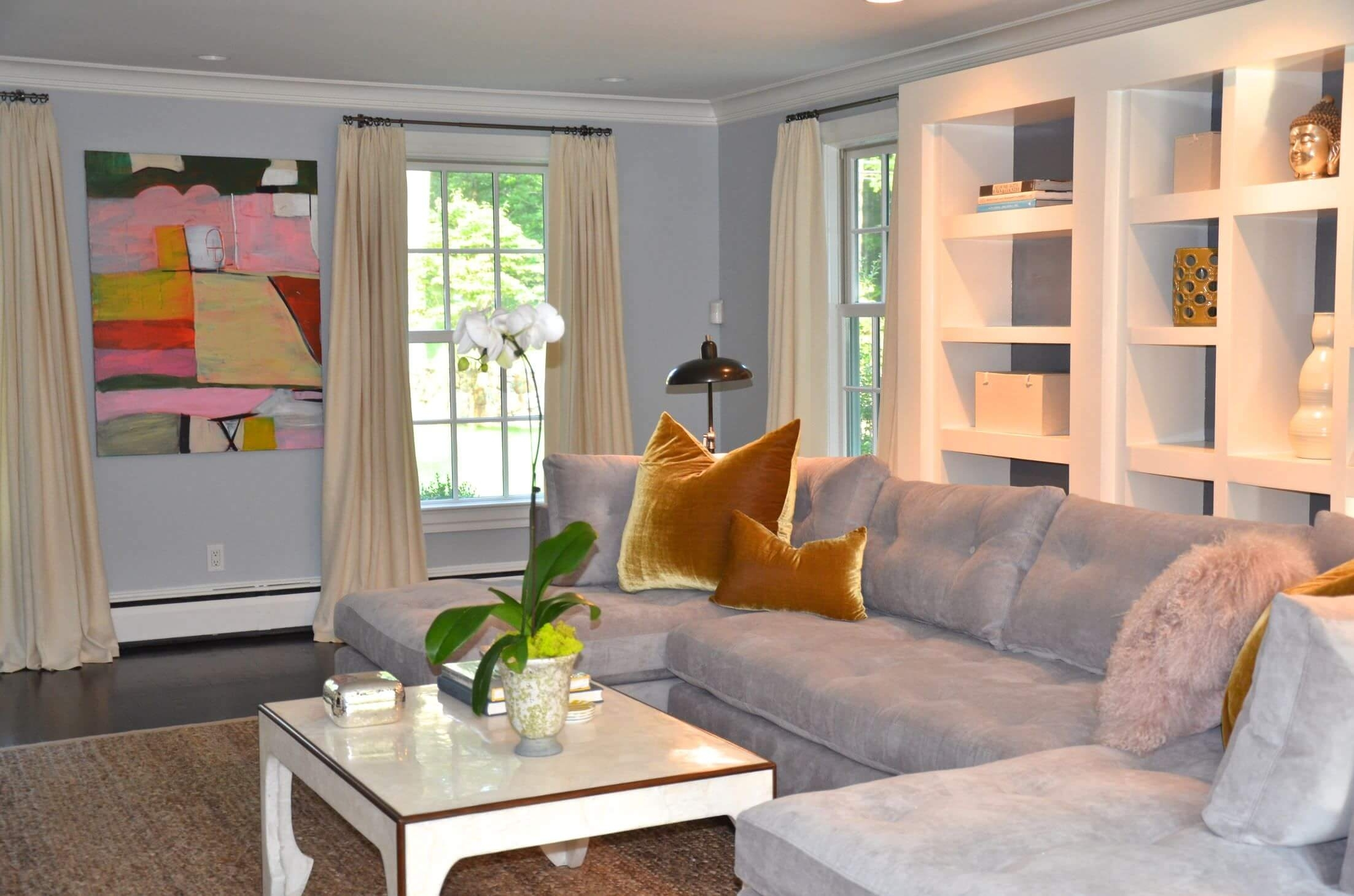 Best Living Room Colors For 2018 Regarding Latest Wall Accents Color Combinations (View 7 of 15)
