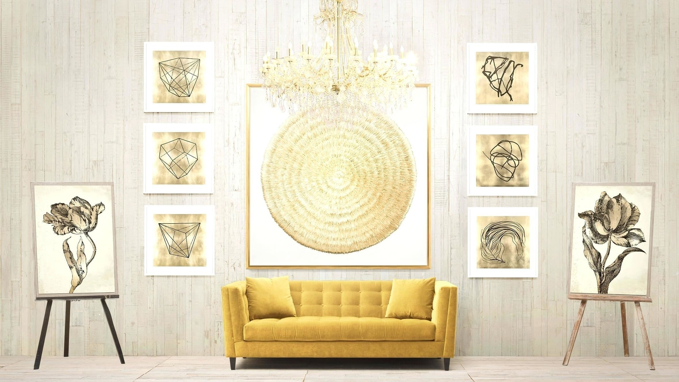 Best Wall Decor Contemporary – The Wall Art Decorations With Regard To 2018 Gold Wall Accents (View 3 of 15)
