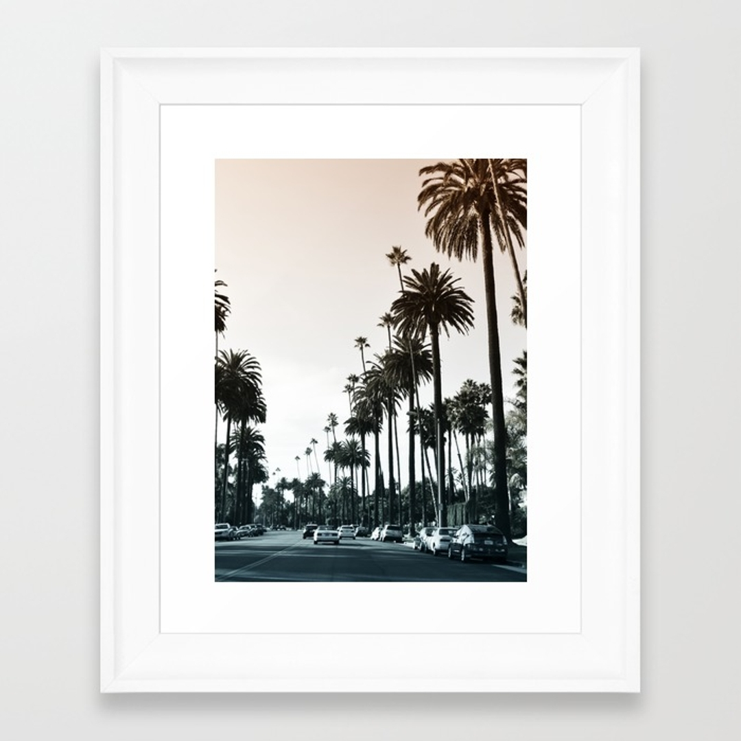 Beverlyhills Framed Art Prints | Society6 Inside 2018 Los Angeles Framed Art Prints (View 7 of 15)