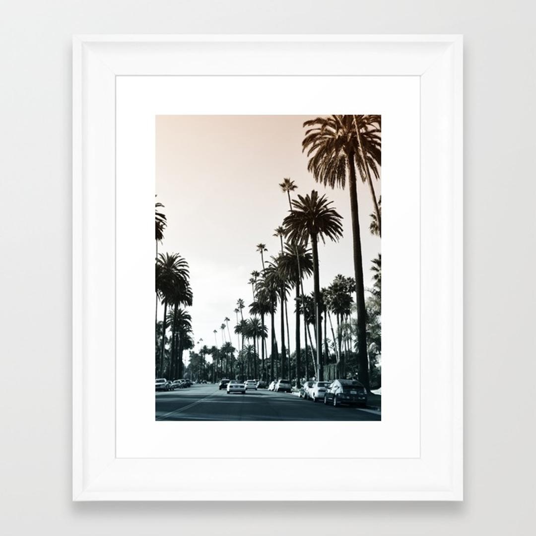 Beverlyhills Framed Art Prints | Society6 Inside 2018 Los Angeles Framed Art Prints (View 1 of 15)