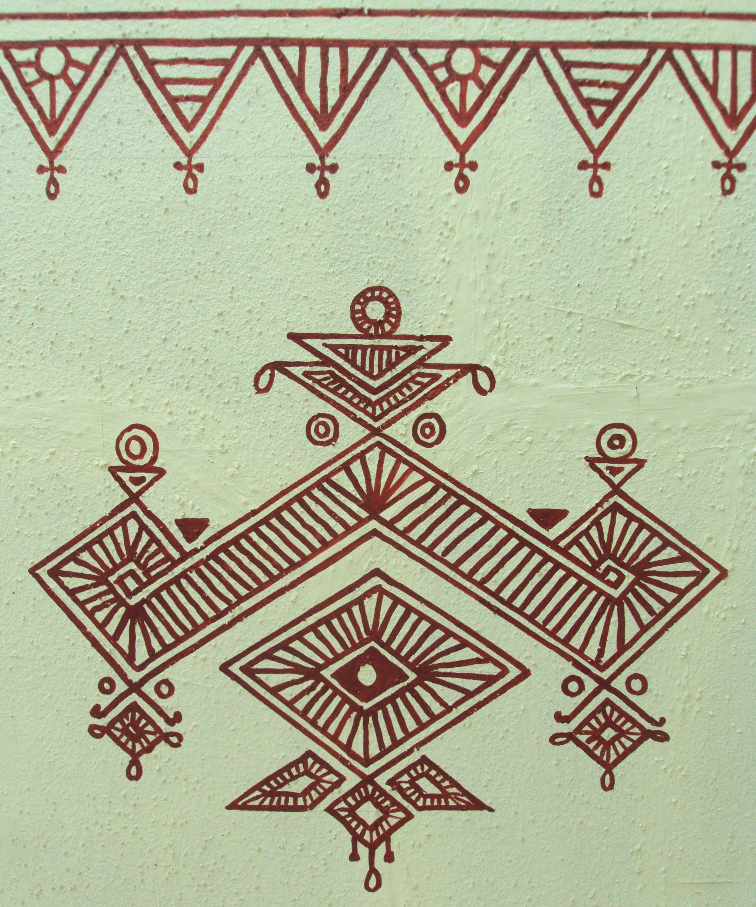 Bheenth Chitra – A Unique Indian Tribal Wall Art Style (step Intended For Latest Thai Fabric Wall Art (View 13 of 15)