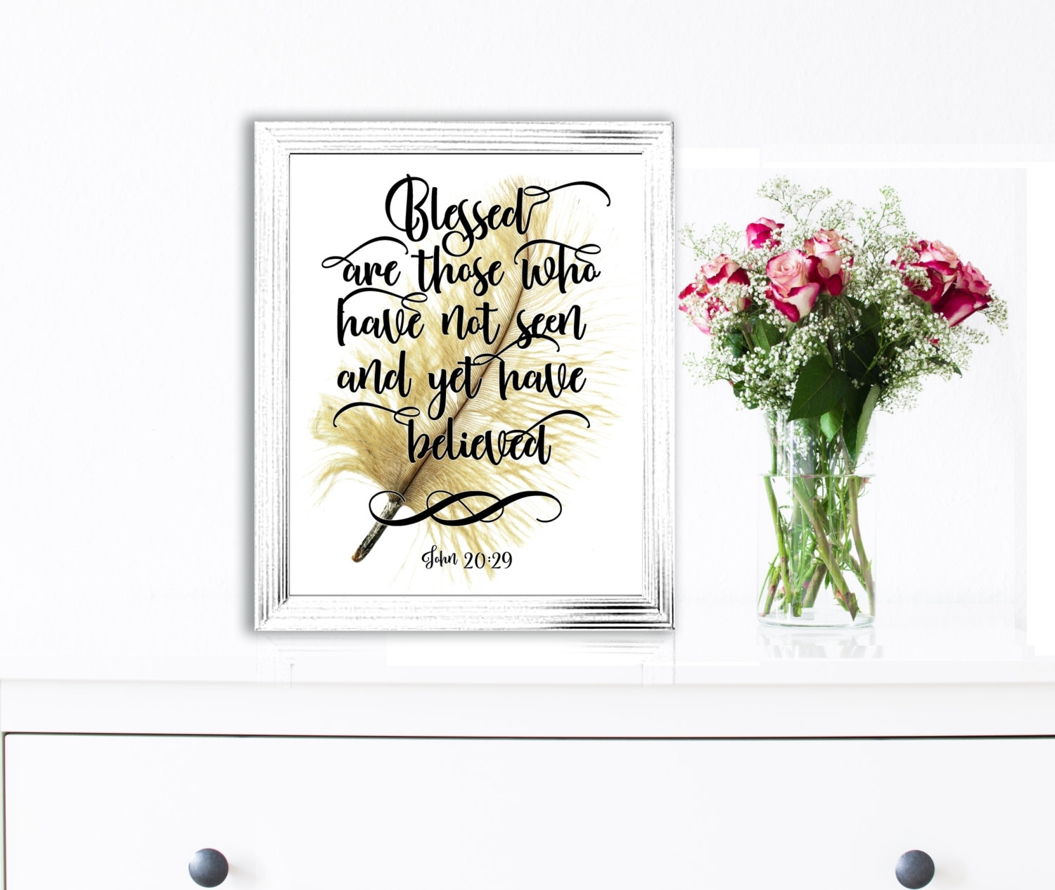 Bible Verse Wall Art Print Bible Quotes Scripture Prints Christian Throughout Most Recently Released Christian Framed Art Prints (View 15 of 15)