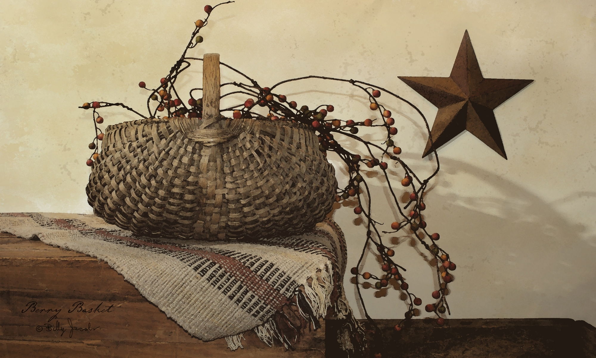 Billy Jacobs | Berry Basketartist Billy Jacobs 16x22 Bj177 With Latest Framed Country Art Prints (View 15 of 15)