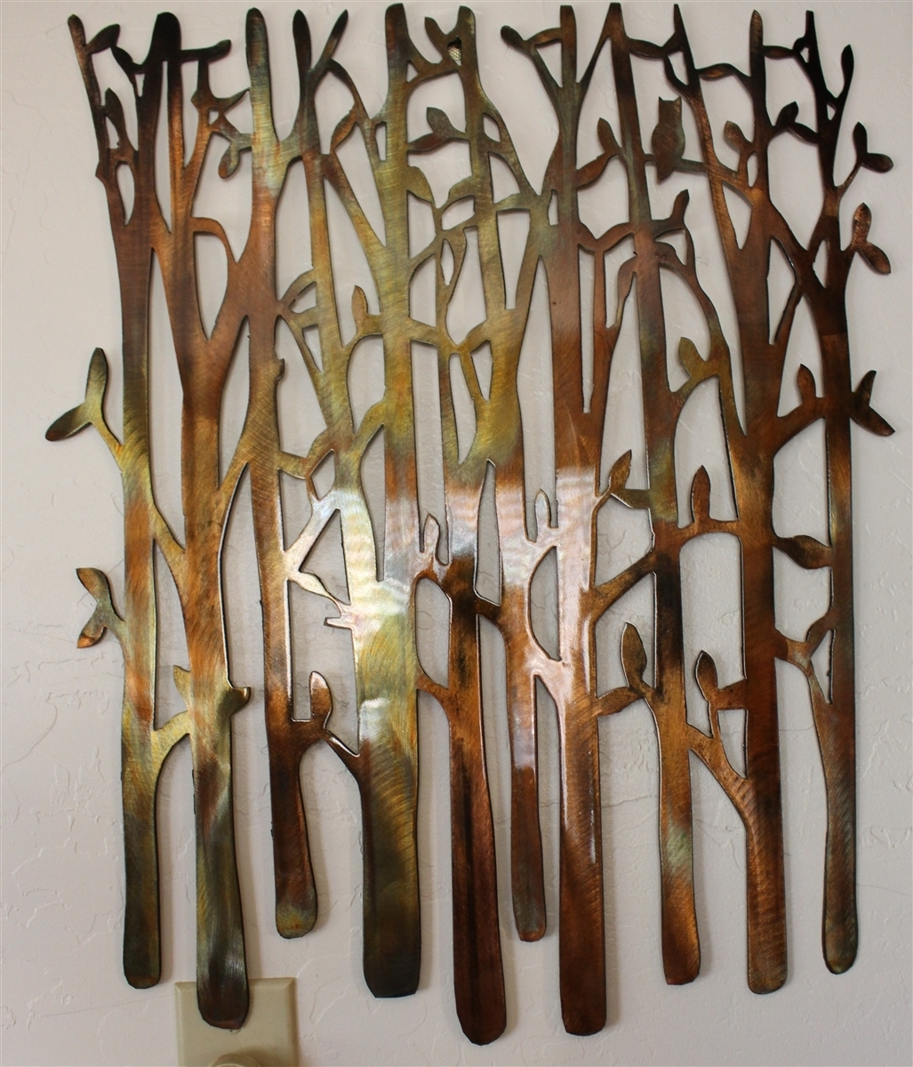 Birch Tree, Birch Tree Metal Art, Bamboo, Bird In The Trees, Bird Throughout Most Popular Metal Wall Accents (View 1 of 15)