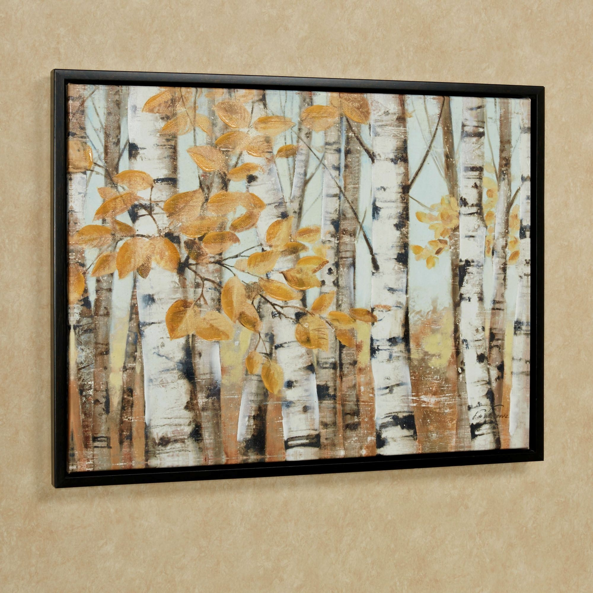 Birch Trees Framed Canvas Wall Art Multi Cool Framed Wall Regarding Latest Birch Trees Canvas Wall Art (View 3 of 15)