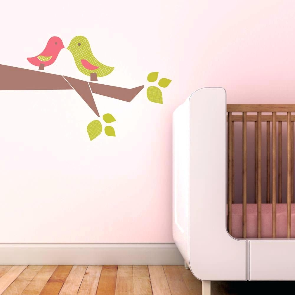 Bird Wall Decals For Nursery Wall Ideas Decorative Fabric Wall Art For Newest Fabric Bird Wall Art (View 3 of 15)