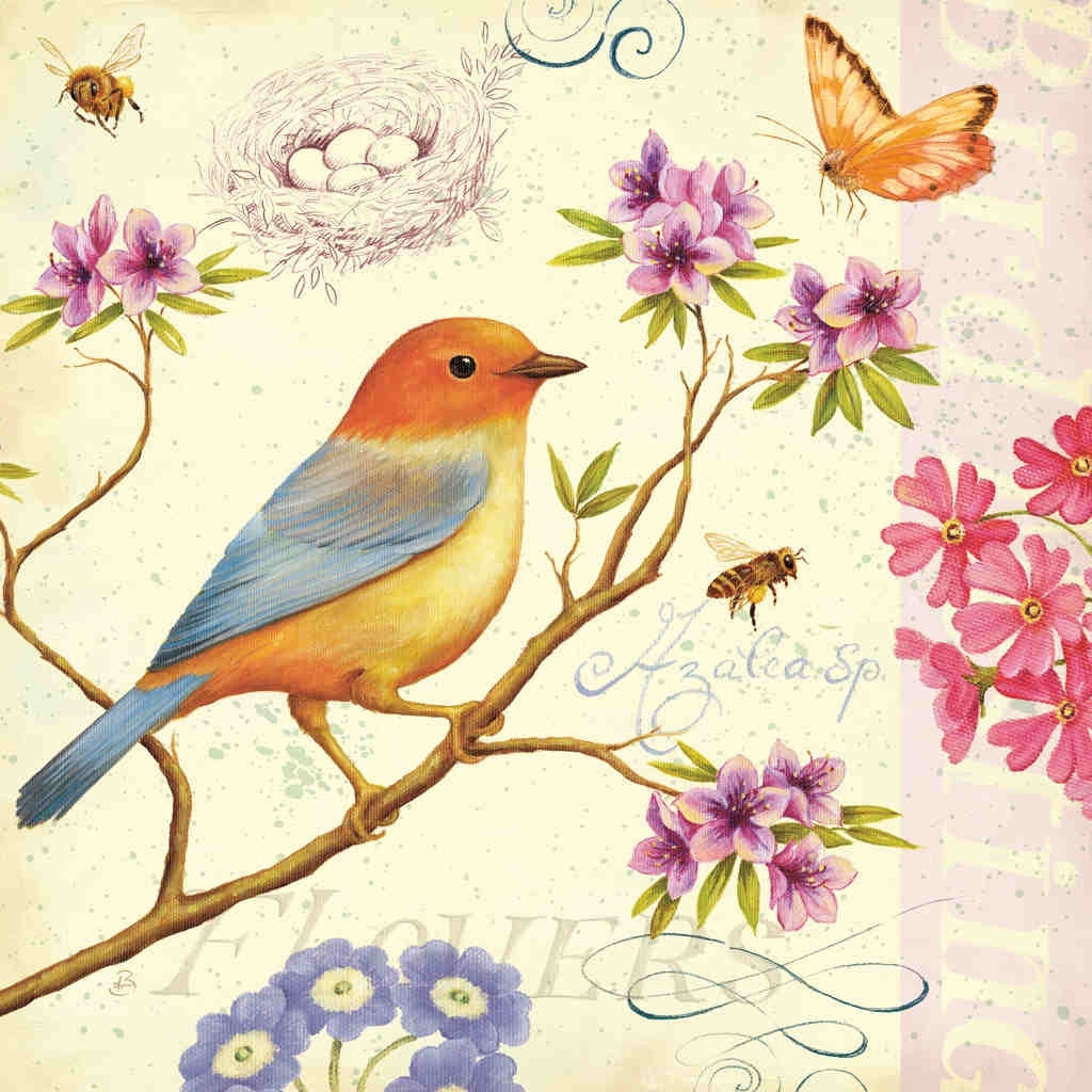 Birds And Bees Iidaphne Brissonnet – Art Print Framed With Latest Birds Framed Art Prints (View 11 of 15)