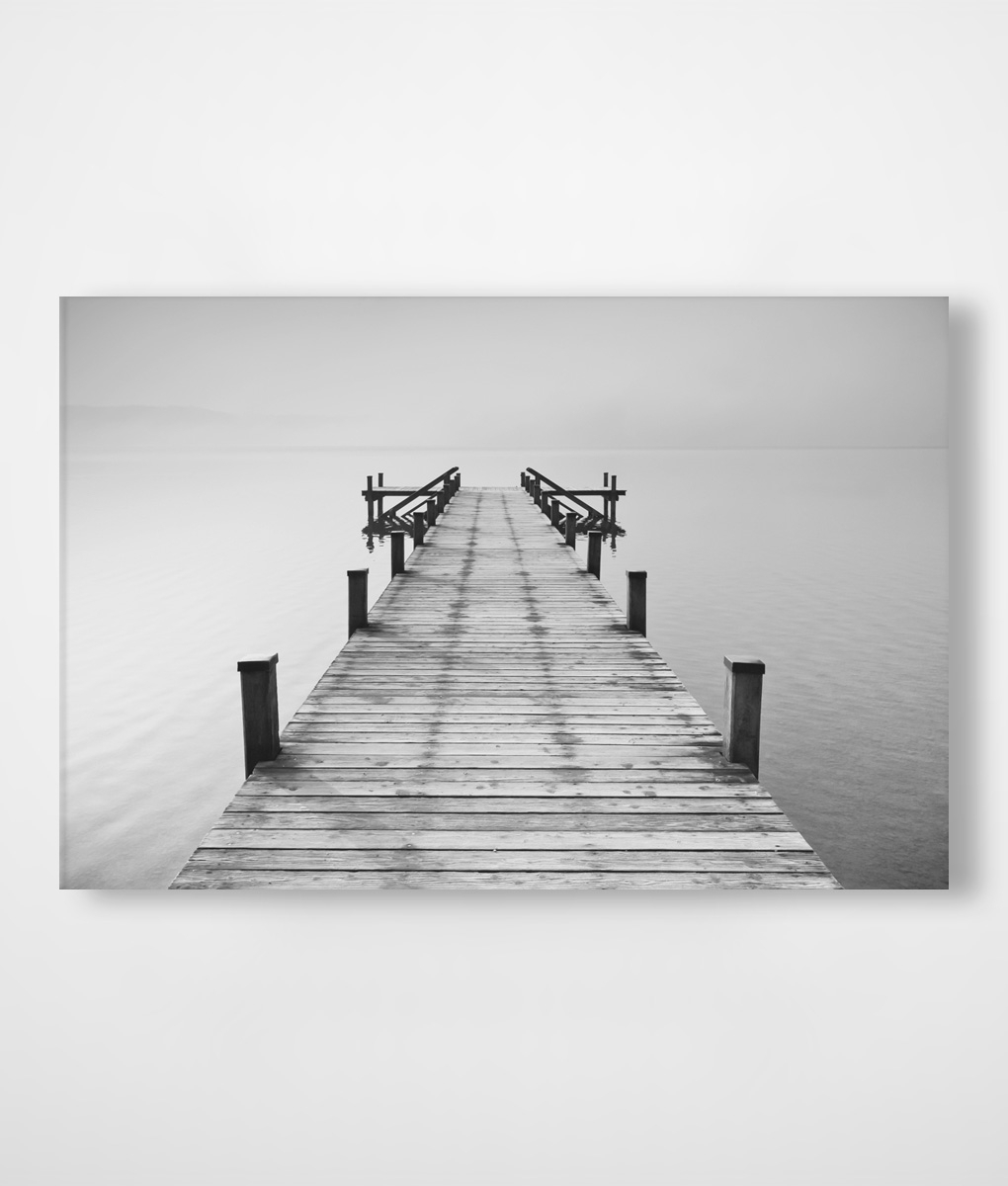 Black And White Jetty Canvas Print In Stock | Canvas Prints Throughout Best And Newest Jetty Canvas Wall Art (View 4 of 15)
