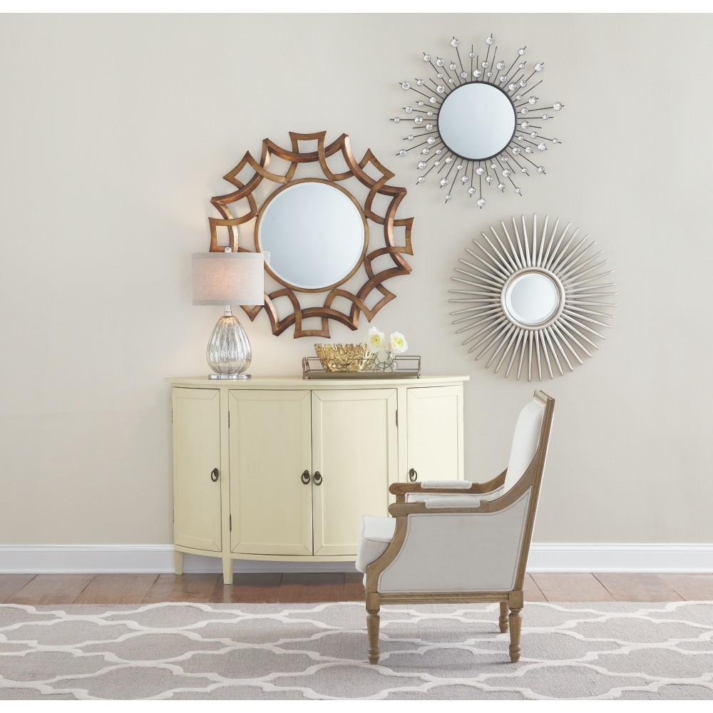 Black – Mirrors – Wall Decor – The Home Depot In Most Up To Date Mirror Sets Wall Accents (View 6 of 15)