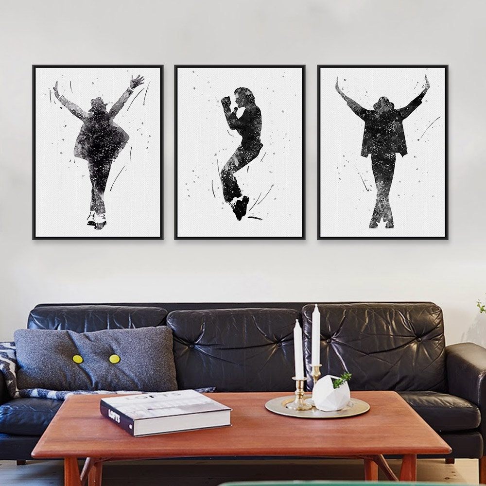Black White This Is It Music Celebrity Michael Jackson Pop Star For Recent Michael Jackson Canvas Wall Art (View 5 of 15)