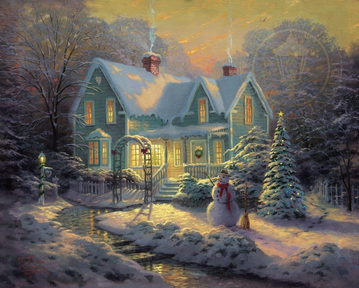 Blessings Of Christmas – Limited Edition Art | The Thomas Kinkade With Latest Christmas Framed Art Prints (View 12 of 15)