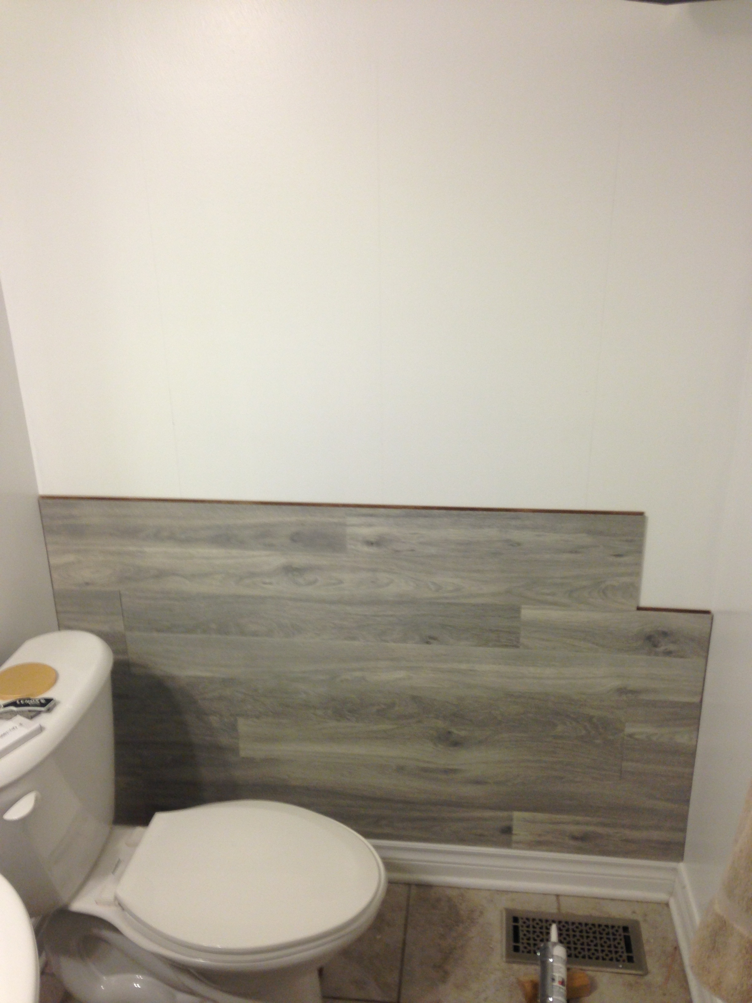 Bored To Floored: Laminate Floor Accent Wall Diy | Keepstead Inside 2017 Wall Accents With Laminate Flooring (View 6 of 15)