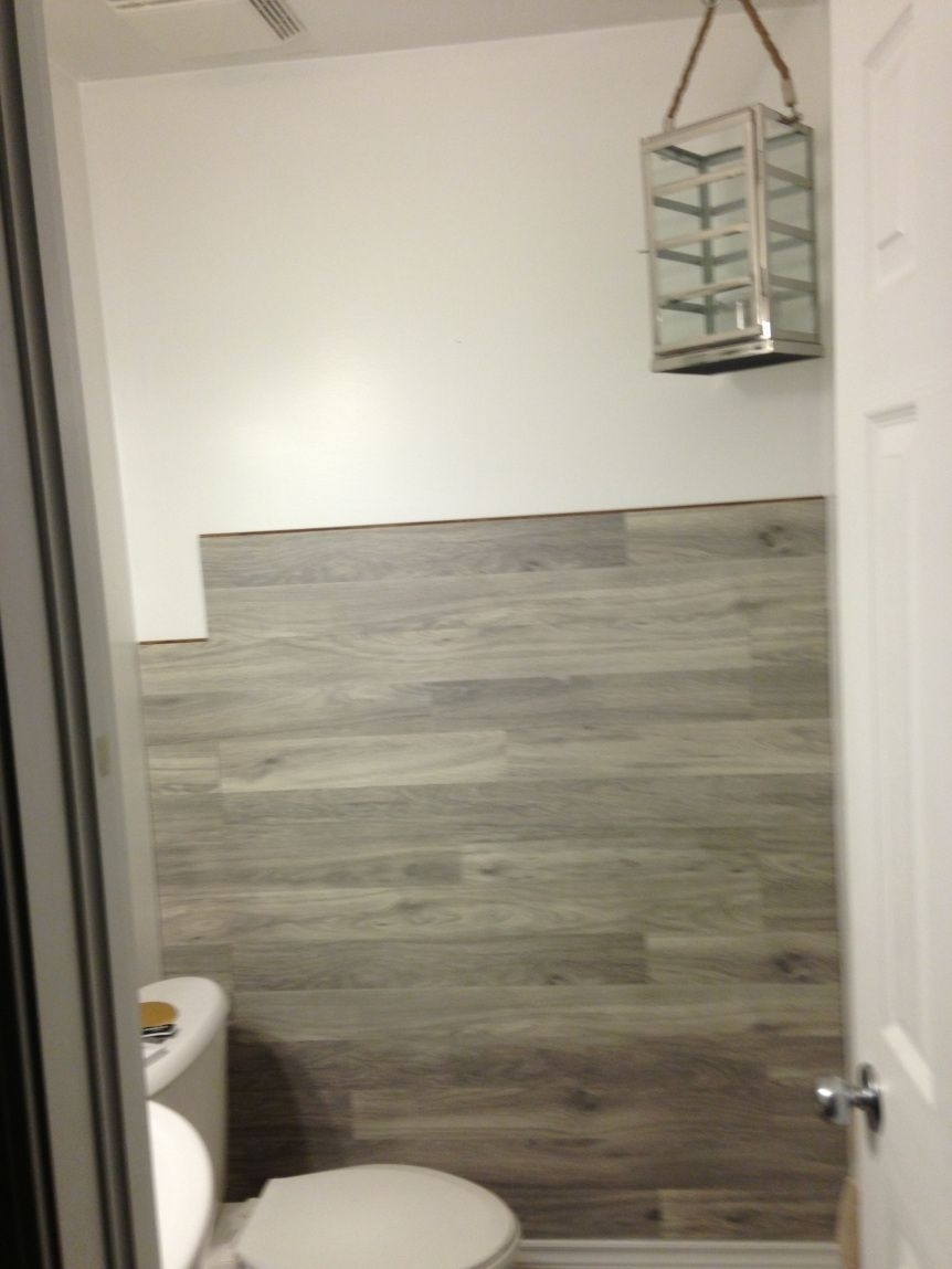 Bored To Floored: Laminate Floor Accent Wall Diy | Laminate With Regard To 2017 Wall Accents Behind Toilet (View 11 of 15)