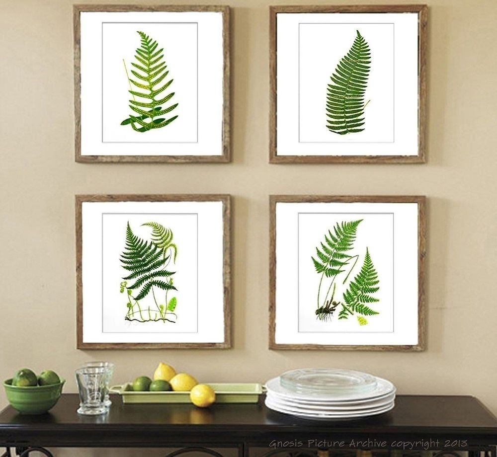 Botanical Fern Prints Green Antique Botanical Art Unframed Wall With Regard To Most Popular Framed Botanical Art Prints (View 7 of 15)