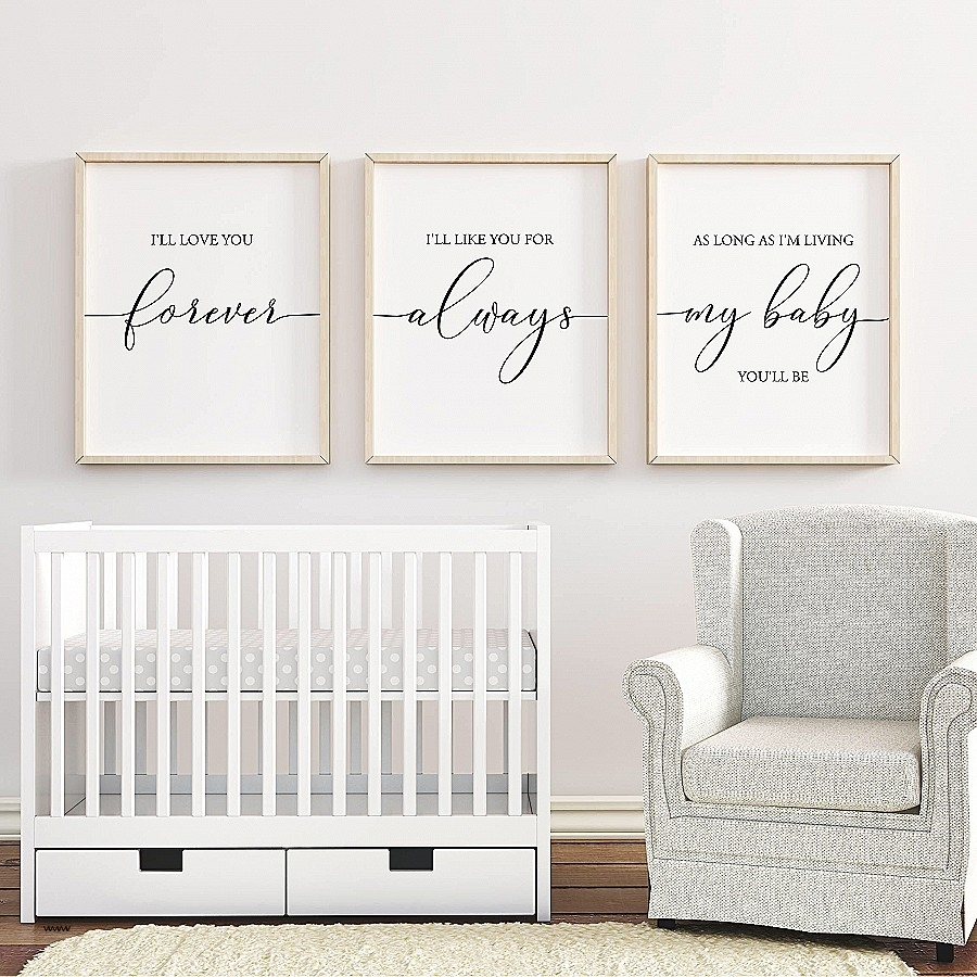 Boy Nursery Canvas Wall Art Fresh I Ll Love You Forever Printable Pertaining To Best And Newest Nursery Canvas Wall Art (View 14 of 15)