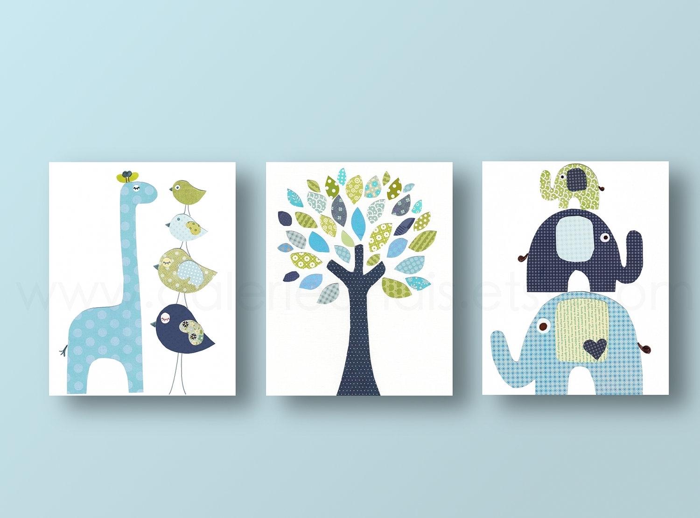 Boy Nursery Wall Decor Picture | Design Idea And Decorations : Boy Regarding 2018 Modern Nursery Canvas Wall Art (View 15 of 15)