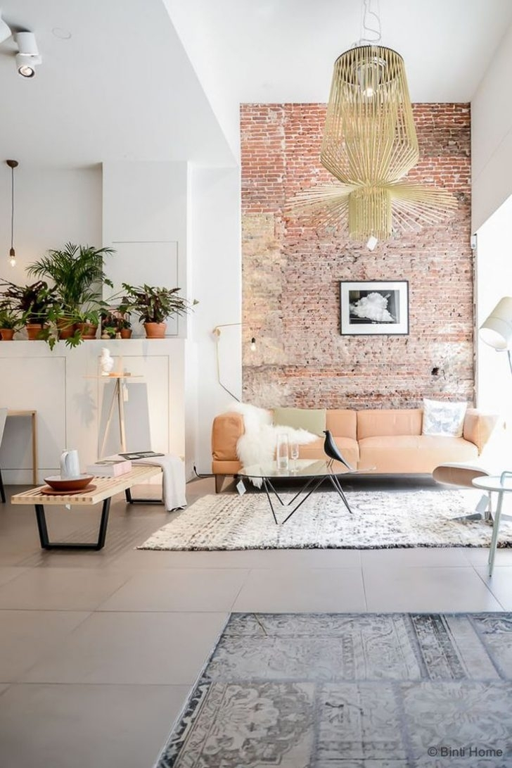 Brick Wall In Living Room Red Ideas Exposed Wallpaper Create Intended For Recent Exposed Brick Wall Accents (View 6 of 15)